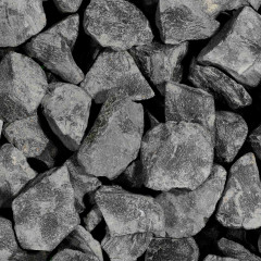 Basalt Schwarz Brocken
