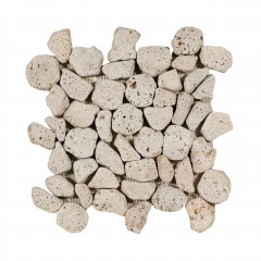 Aegean Pebbles Beige Travertin